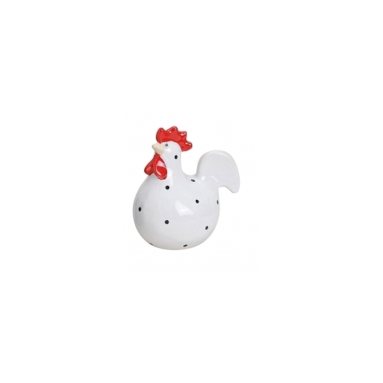 Paas thema kippen beeldje wit 9 cm