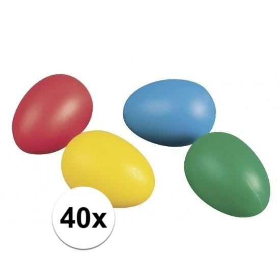40 plastic paaseieren in leuke kleuren