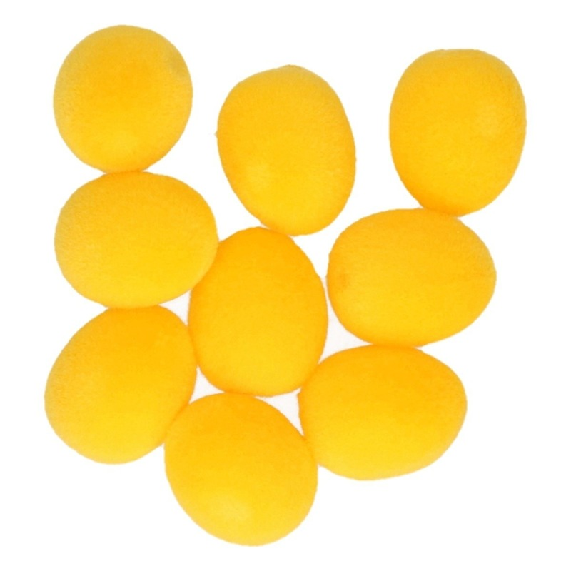 9x Gele Pasen thema decoratie eieren