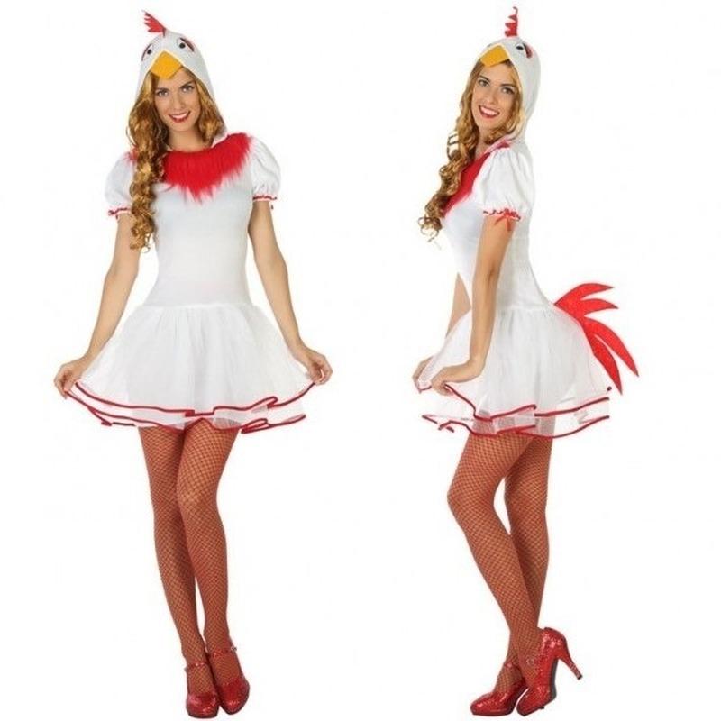 Carnaval dieren kostuum kip voor dames