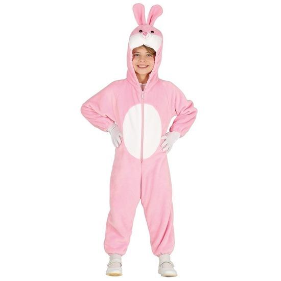 Carnavalskleding roze konijn/haas voor kinderen