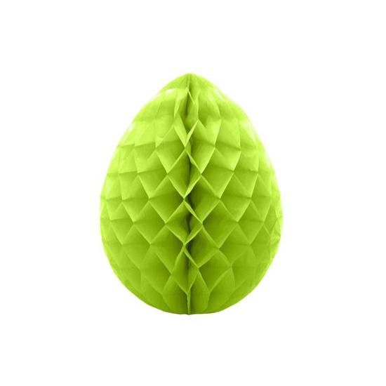 Deco honeycomb paasei groen 10 cm