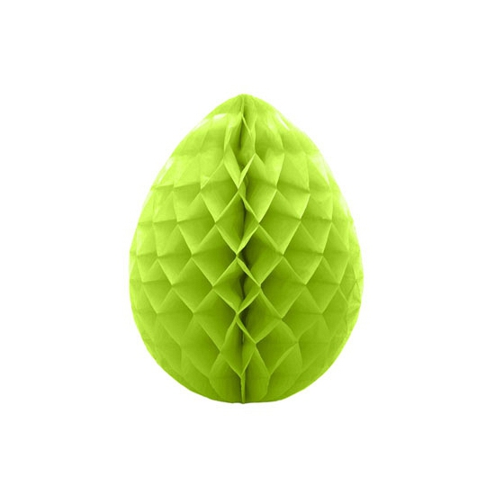 Deco honeycomb paasei groen 30 cm