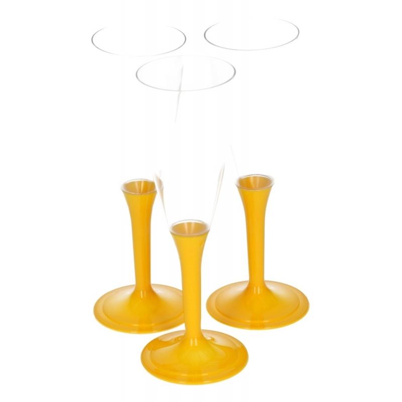 Gele drankglazen 10 stuks