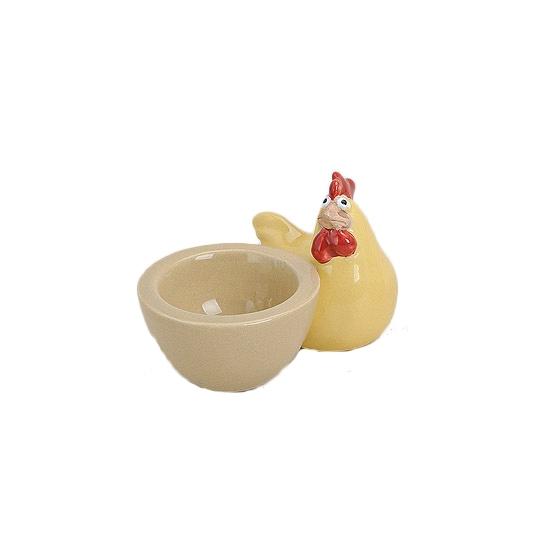 Gele kippen eierdopjes 9 cm