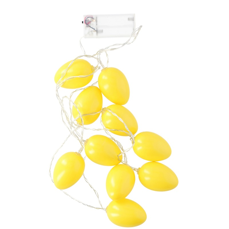 Gele LED paaseieren aan snoer
