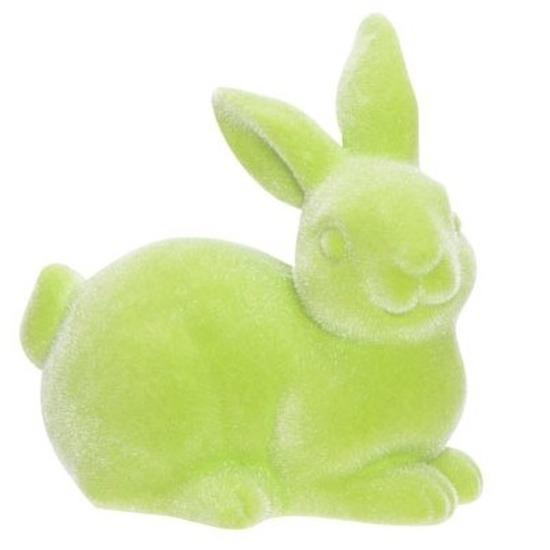 Groene deco hazen/konijnen voor Pasen 6 cm