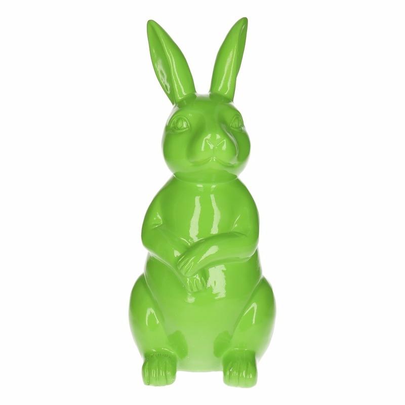 Haas-konijn tuin decoratie beeld groen 30 cm