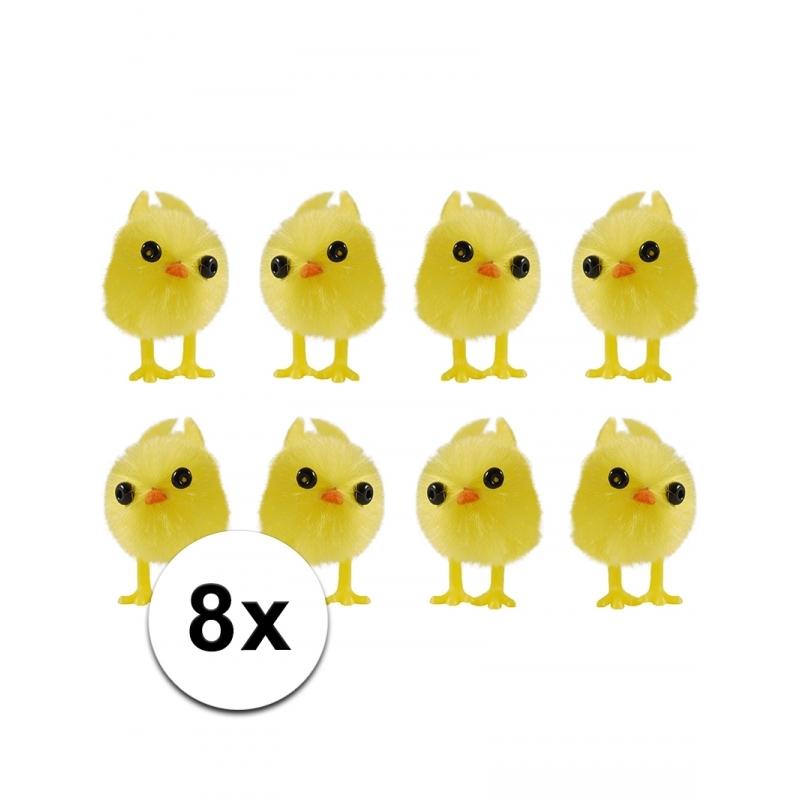 Mini kuikentjes geel 8 stuks