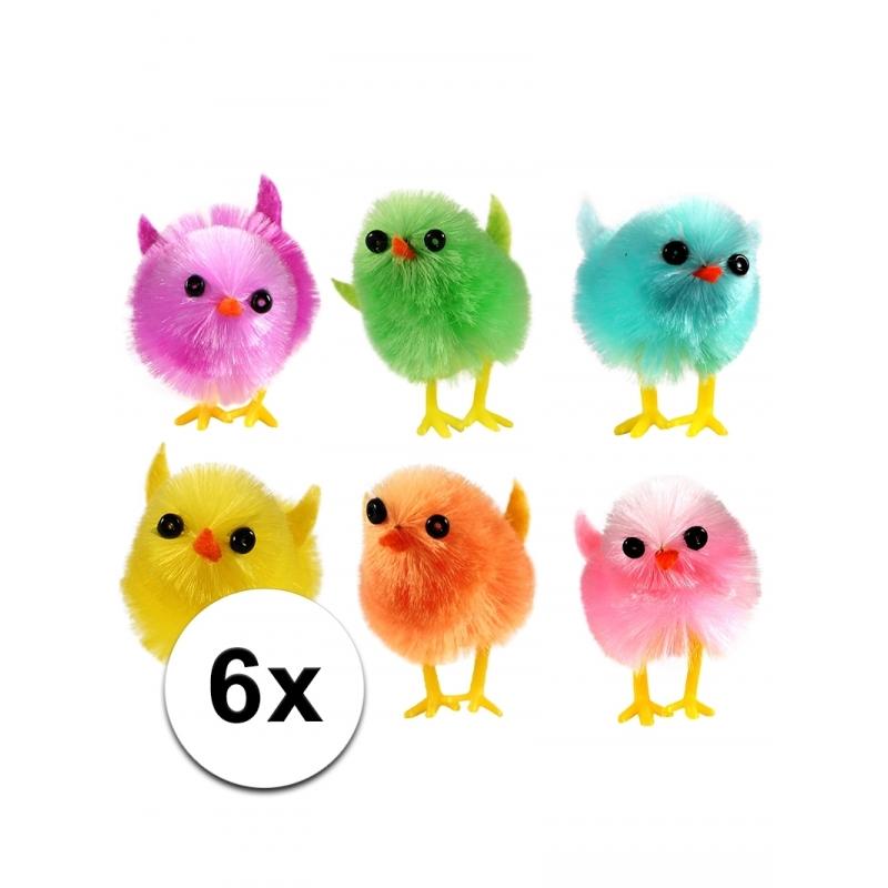 Mini kuikentjes gekleurd 6 stuks