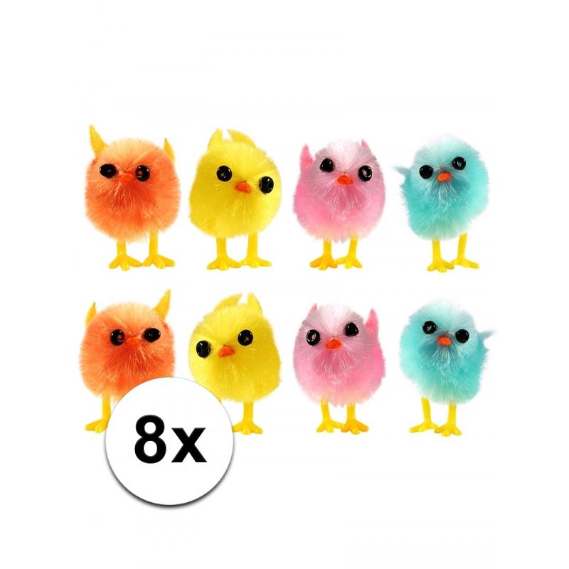 Mini kuikentjes gekleurd 8 stuks