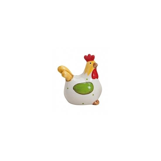 Paas thema kippen beeldje wit 8 cm