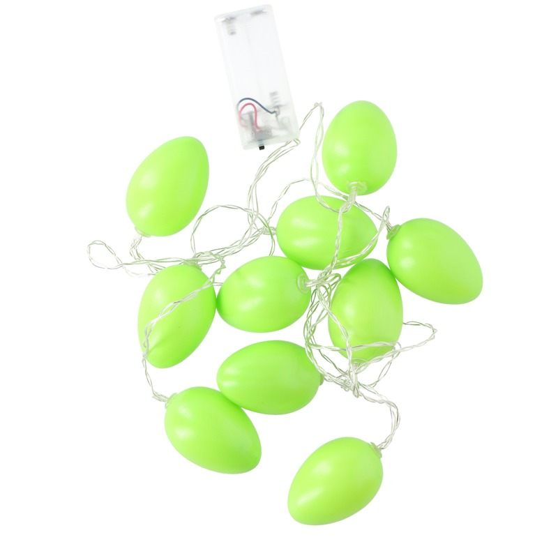 Paasslinger LED verlichting limegroen paaseieren 192 cm