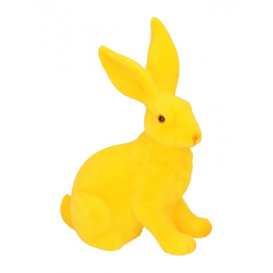 Paasviering paashaas geel decoratie 23 cm