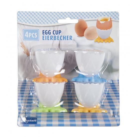 Pasen eierdopjes met voetjes