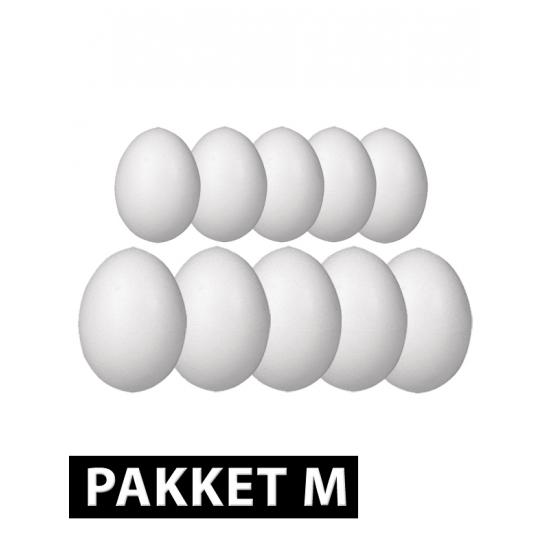 Piepschuim eieren pakket 10x medium formaat