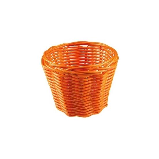 Rieten paasei mandje oranje 14 cm
